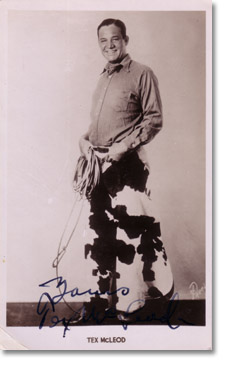 Tex McLeod - Wild West star and trick roper